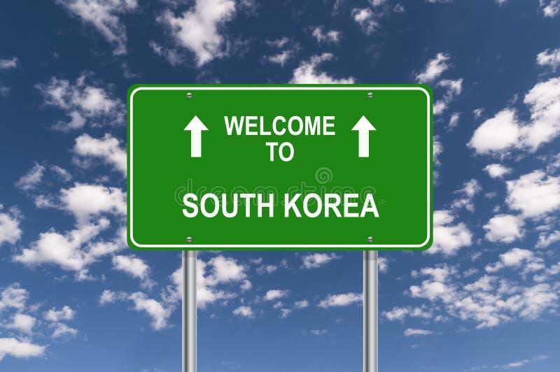V?lkomnande till Sydkorea stock illustrationer