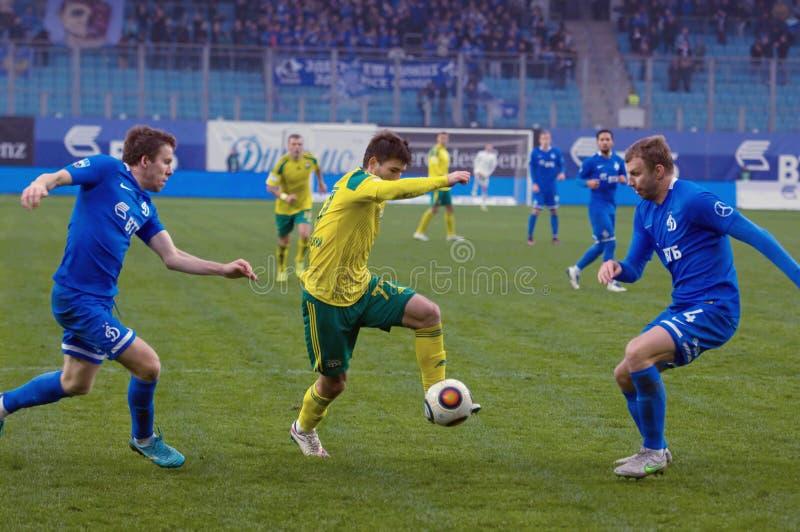 V Lobkarev ( 77) dribble stock fotografie