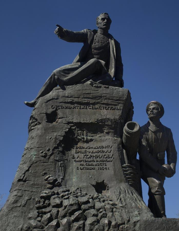 V a Monumento di Kornilov a Sebastopoli fotografia stock libera da diritti