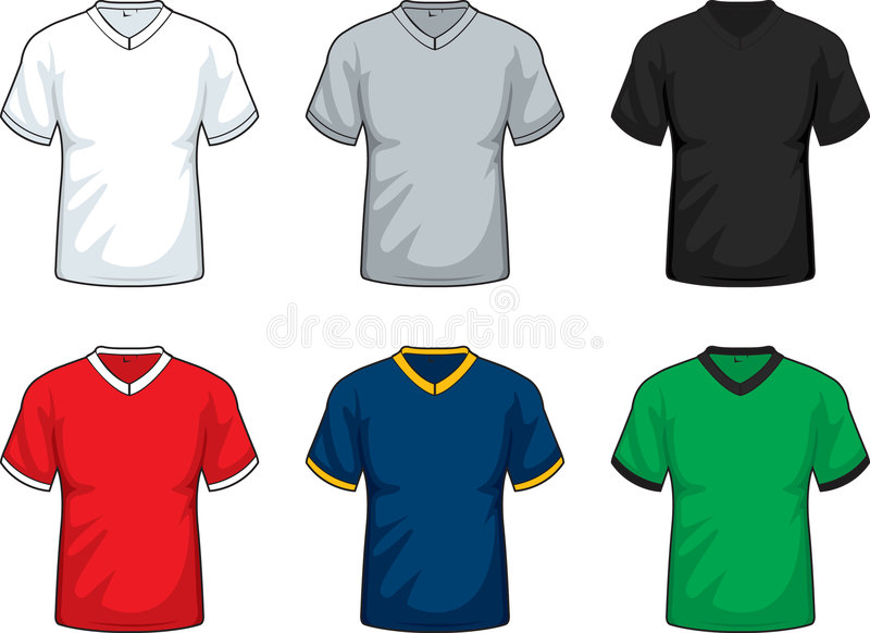 Download V-Neck T-shirts stock vector. Image of gray, retro, clip - 4270680