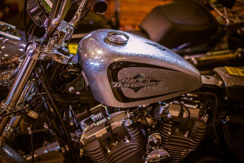 ??v?nement de Chambre ouverte ?de Harley Davidson en Italie : pr?sentation d'habillement images libres de droits
