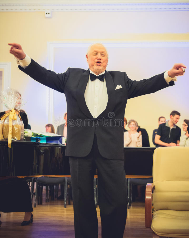 V Noreika, opera piosenkarz fotografia stock