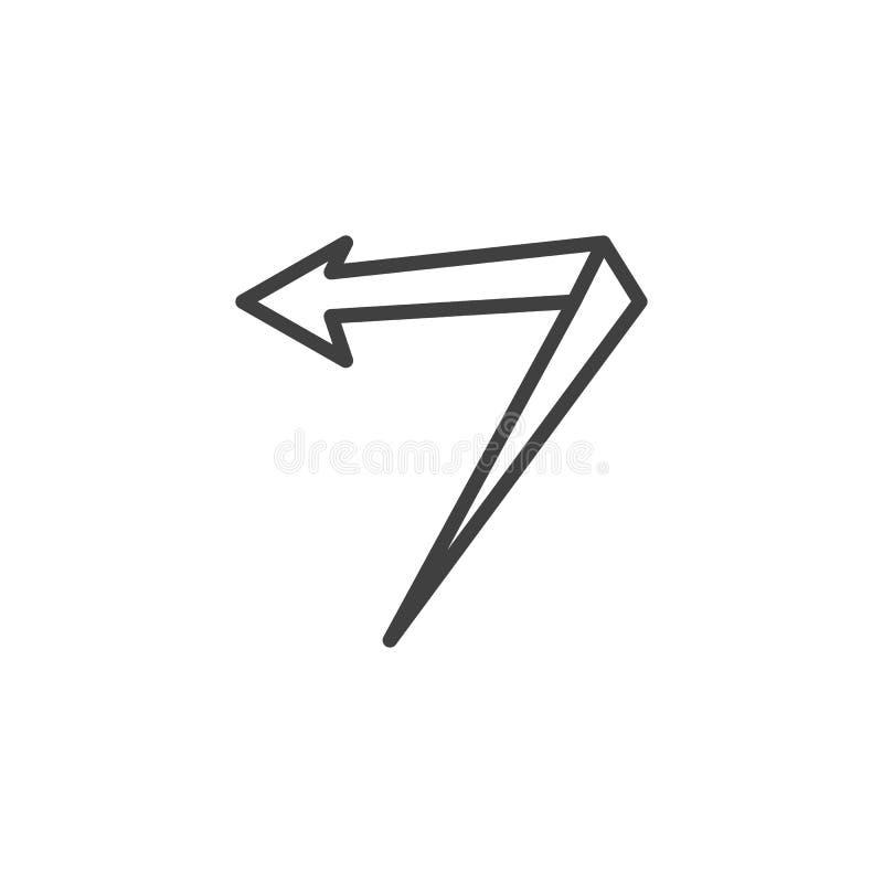 V?nster vinkelpillinje symbol stock illustrationer
