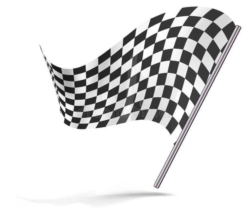 Vôo Chequered da bandeira ilustração do vetor
