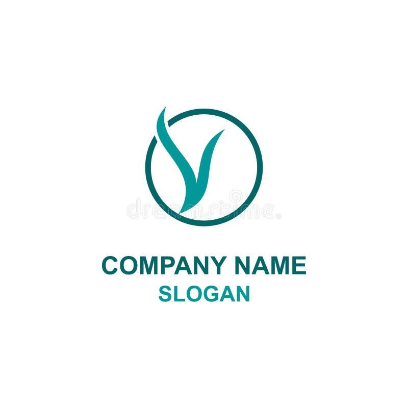 V okręgu listowy początkowy logo ilustracja wektor