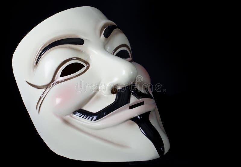 V para la máscara de la venganza o de Guy Fawkes fotos de archivo
