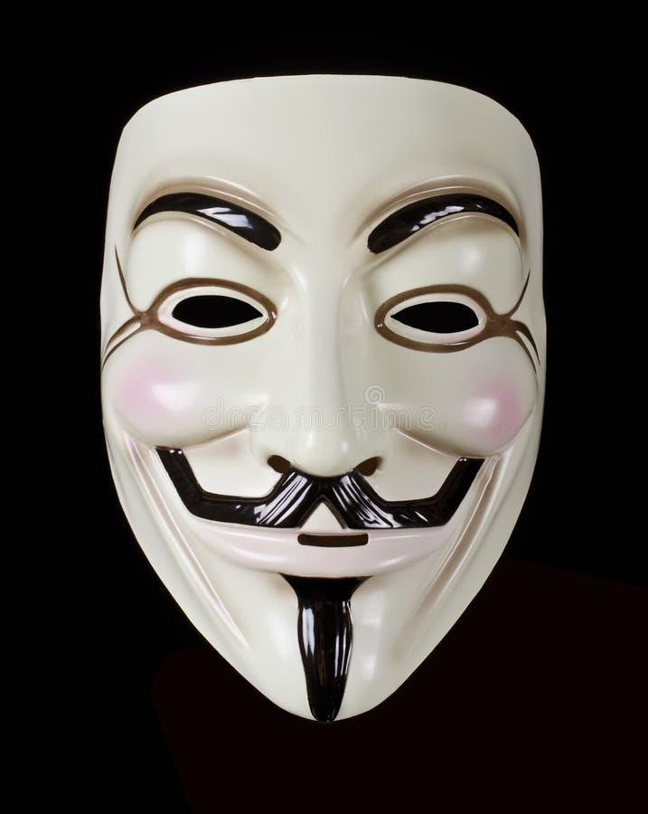 V para a máscara da vingança ou do Guy Fawkes imagem de stock royalty free