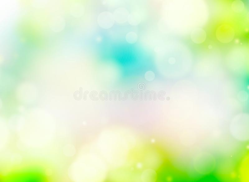 V?r- eller sommarbakgrundssuddighet Ferietapet royaltyfri illustrationer