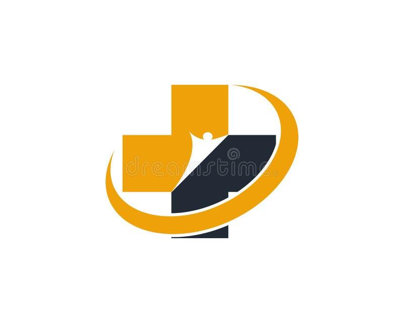 V?rd- medicinsk logomallvektor vektor illustrationer
