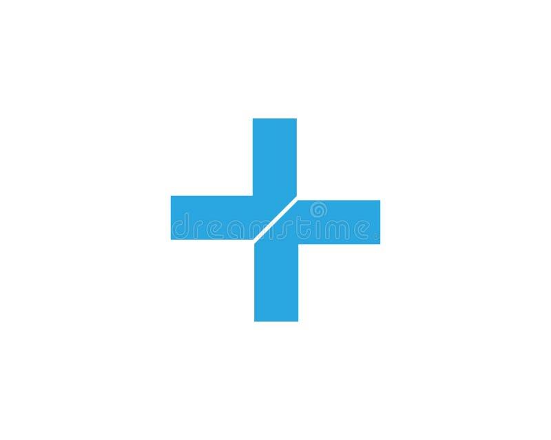 V?rd- medicinsk logomallvektor royaltyfri illustrationer