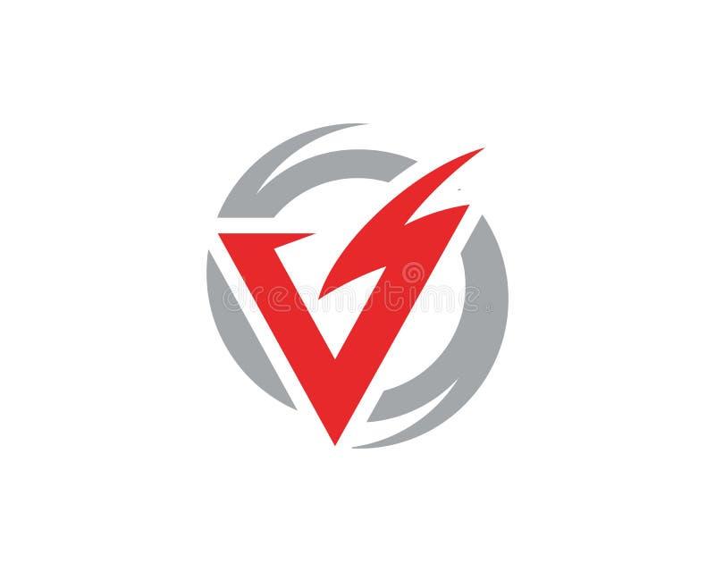 V relámpago Logo Template de la letra stock de ilustración