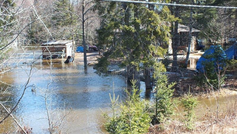 V?rflod i Huntsville, Ontario, 2013 royaltyfri foto