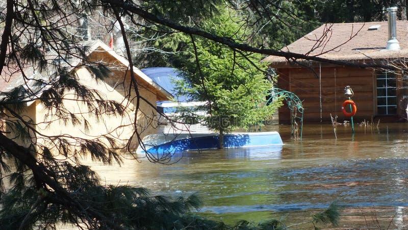 V?rflod i Huntsville, Ontario, 2013 royaltyfria foton
