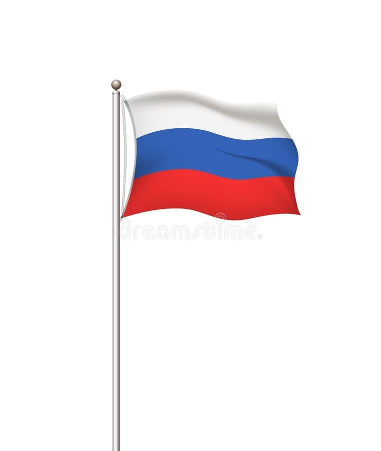 V?rldsflaggor Ryssland Genomskinlig bakgrund för landsnationsflaggastolpe Rysk federation ocks? vektor f?r coreldrawillustration vektor illustrationer