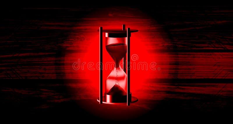 V?rldsn?tverksteknologi med bakgrund f?r tr? f?r timglastidtimme Teknologikommunikation vektor illustrationer