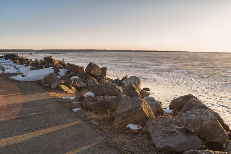 V?rsikt av Sylvan Beach Shoreline royaltyfri bild