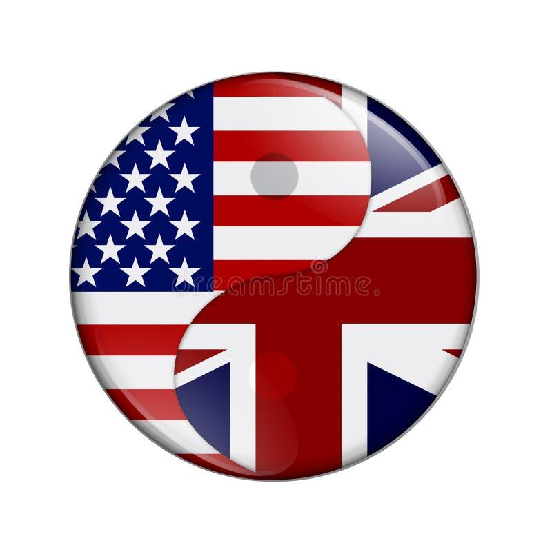V.S. en het UK die de samenwerken stock illustratie
