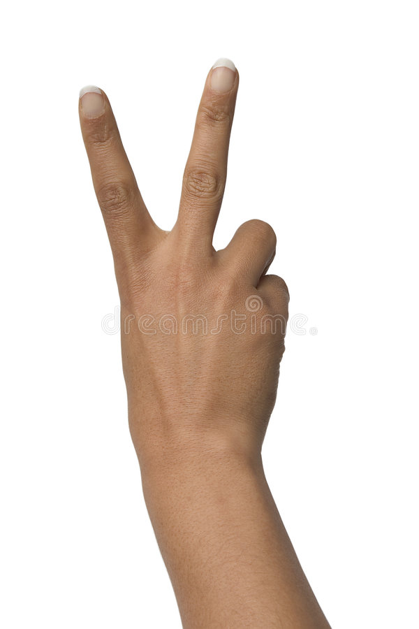V sign royalty free stock images