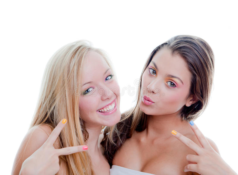 Download V sign teens stock photo. Image of teeth, sign, fashion - 27325888