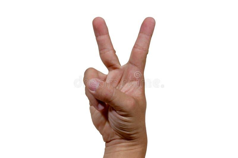 V-signe photo libre de droits