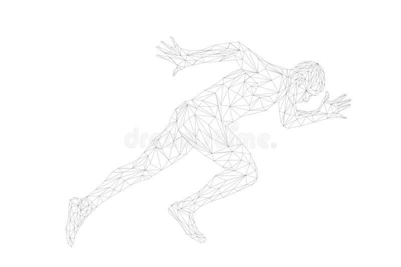 Start running sprinter runner man athlete vector illustration