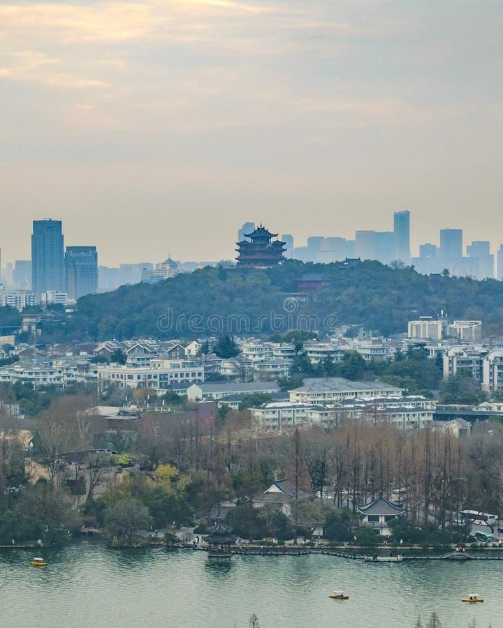 V?stra sj?, Hangzhou, Kina royaltyfria foton