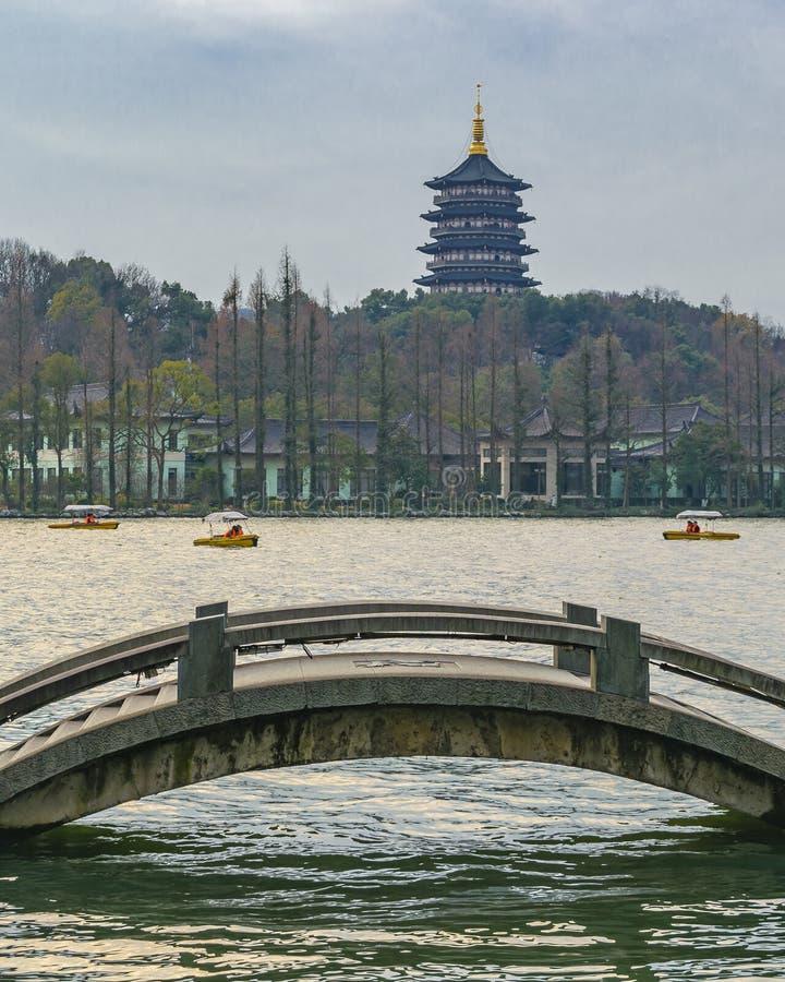 V?stra sj?, Hangzhou, Kina arkivbild