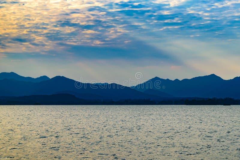 V?stra sj?, Hangzhou, Kina royaltyfria bilder