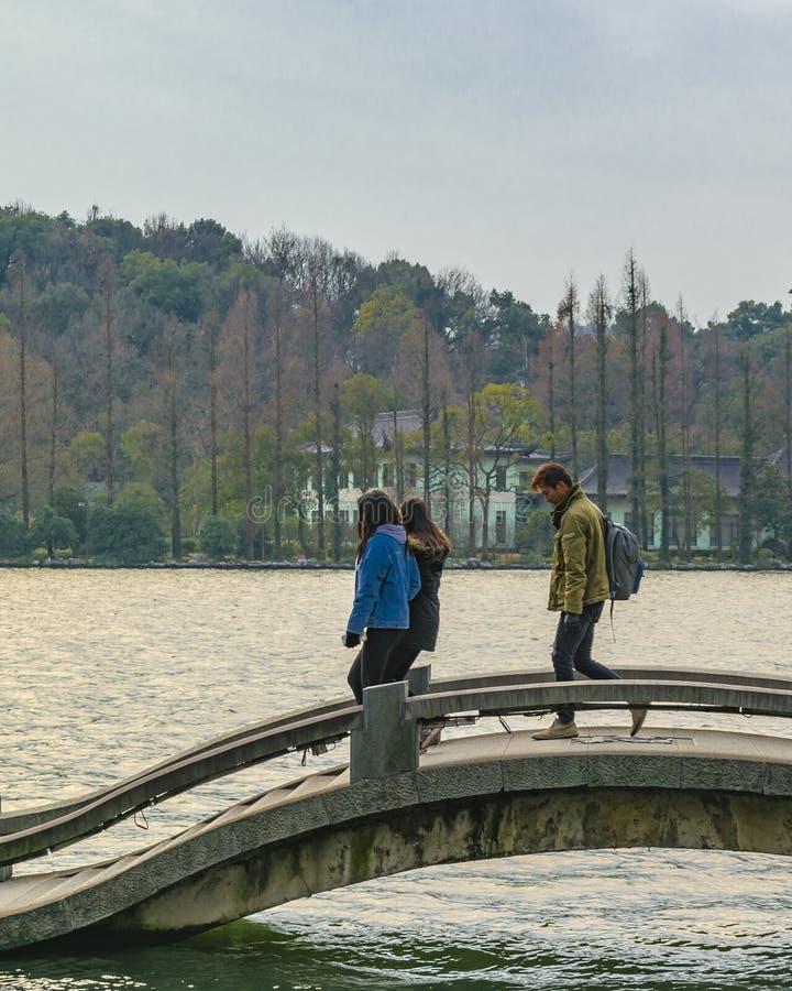 V?stra sj?, Hangzhou, Kina arkivfoton
