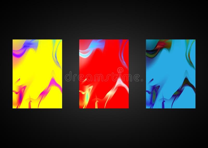 V?tskef?rgbakgrundsdesign Original- presentationsmallar Den idérika reklambladet och broschyren som framlägger, banret, broschyr  royaltyfri illustrationer