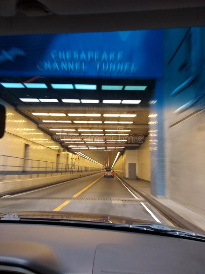 V.A tunnel royalty free stock photo