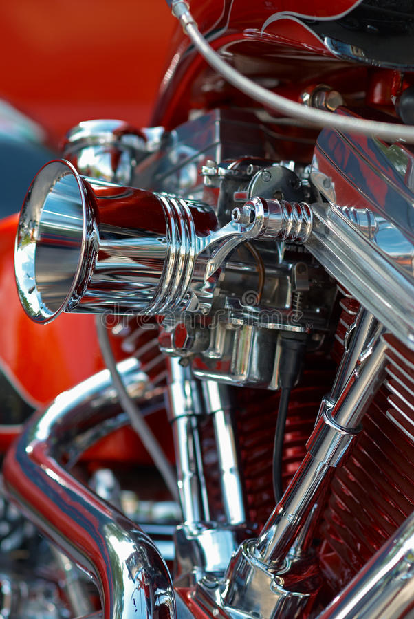 Download V-twin engine stock image. Image of clean, chromed, machine - 16427313