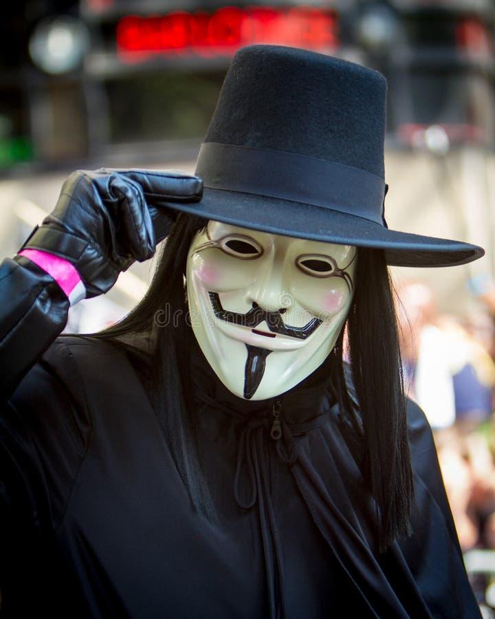 V voor Vendeta stock afbeelding