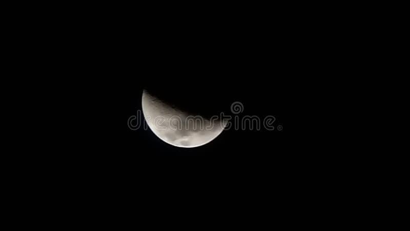 V?xande moon arkivfoton