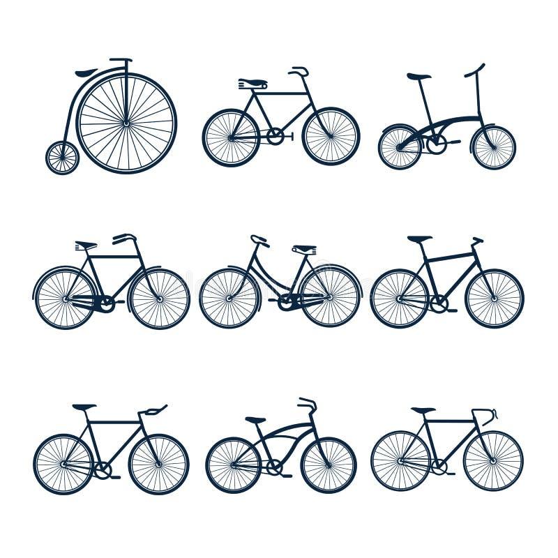 Va in bicicletta le icone royalty illustrazione gratis