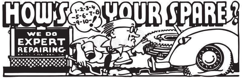 Va comment votre pièce de rechange illustration libre de droits