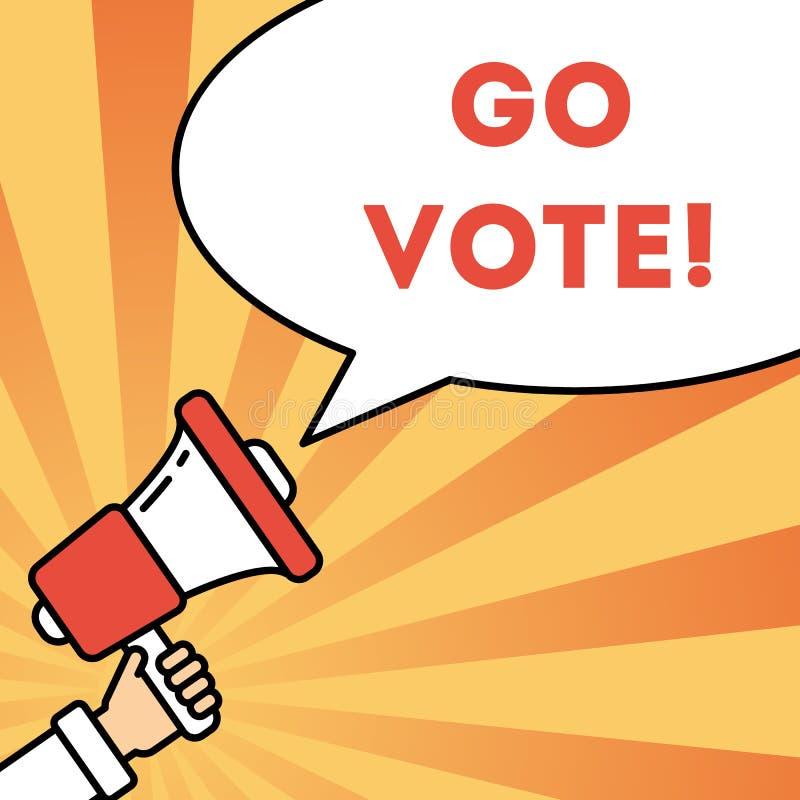 Va el concepto del voto ilustración del vector