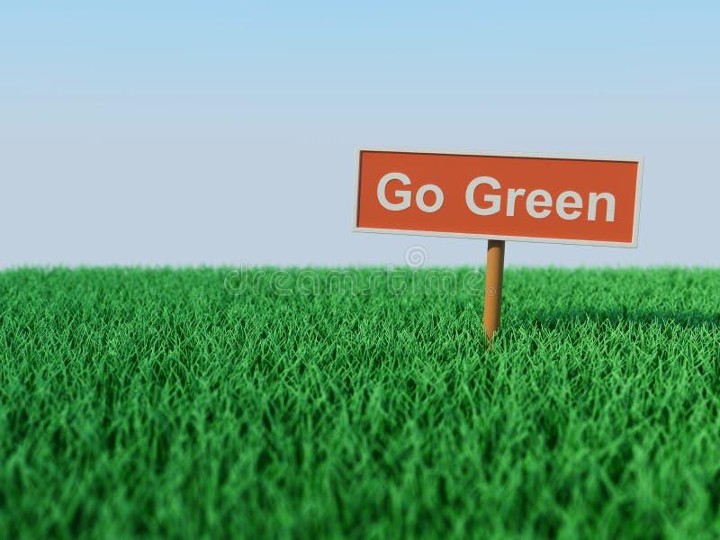 Va el concepto verde ilustración del vector