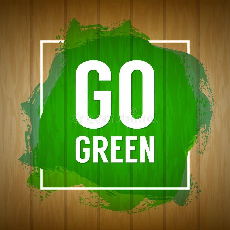 Va el concepto verde Fondo de la naturaleza Va el concepto de diseño verde wo stock de ilustración