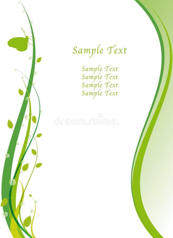 Va el diseño de concepto verde stock de ilustración