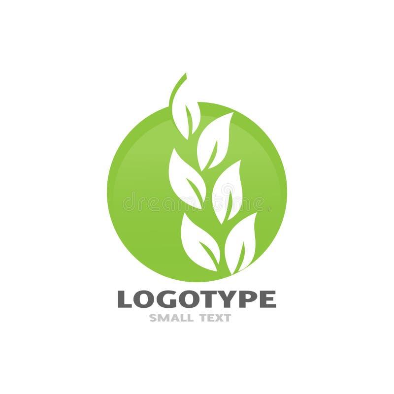 Va el diseño verde del logotipo stock de ilustración