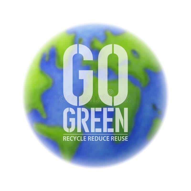 Va el fondo verde de la ecología stock de ilustración