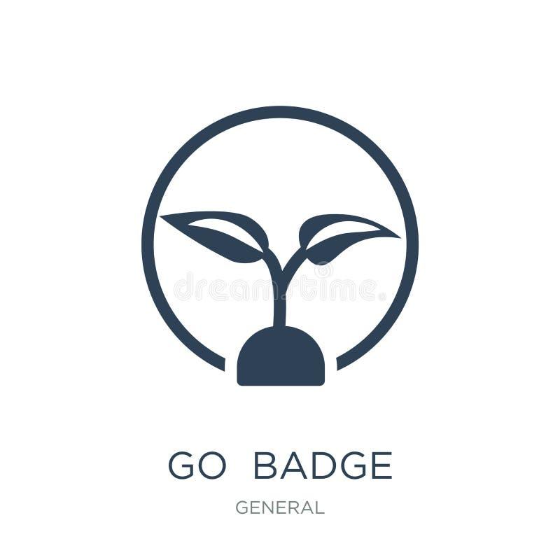 va el icono de la insignia en estilo de moda del diseño va el icono de la insignia aislado en el fondo blanco va plano simple y m libre illustration
