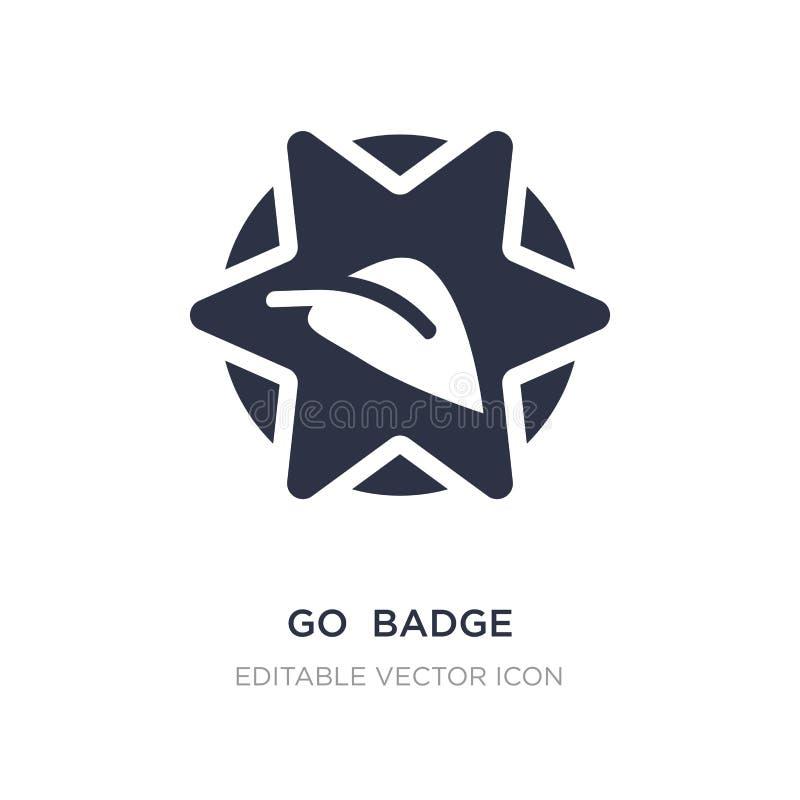 va el icono de la insignia en el fondo blanco Ejemplo simple del elemento del concepto general stock de ilustración