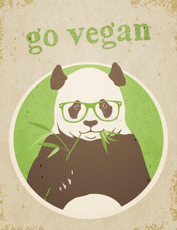 Va el vegano Panda Bear stock de ilustración