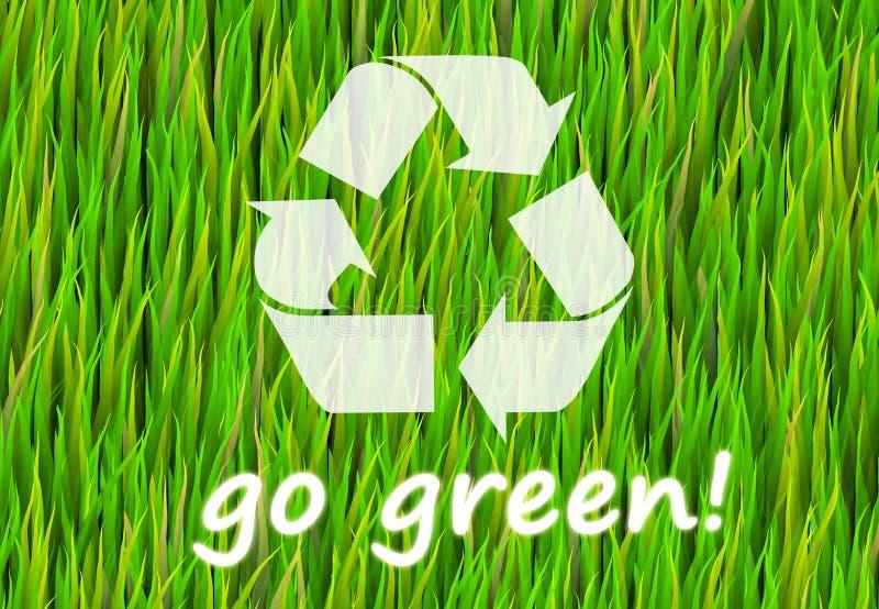 Va el verde ilustración del vector