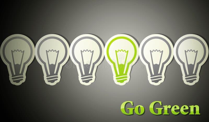 Va el verde. concepto del eco ilustración del vector