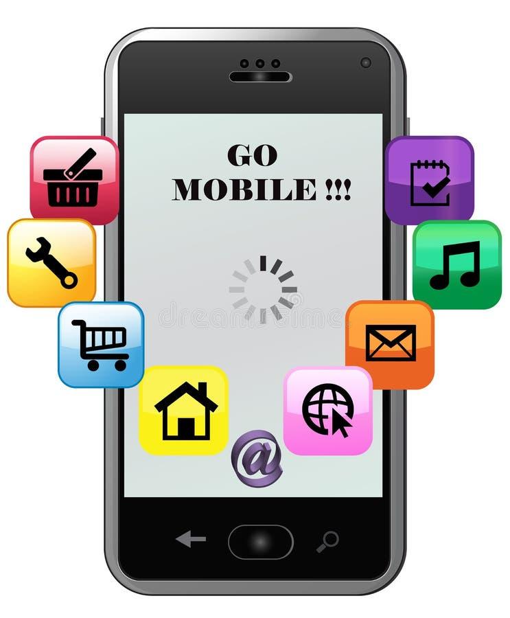Va, il cellulare, concetto royalty illustrazione gratis