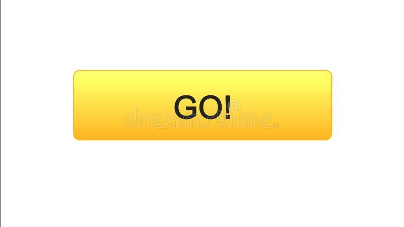 Va il colore arancio del bottone dell'interfaccia di web, lo sviluppo di istruzione, progettazione del sito royalty illustrazione gratis