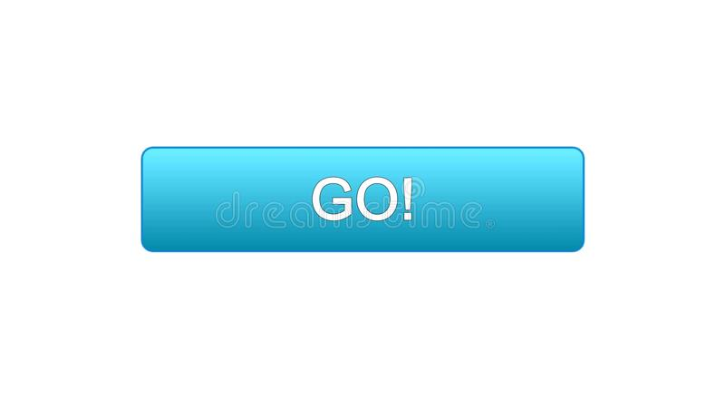 Va il colore blu del bottone dell'interfaccia di web, lo sviluppo di istruzione, progettazione del sito di affari illustrazione vettoriale